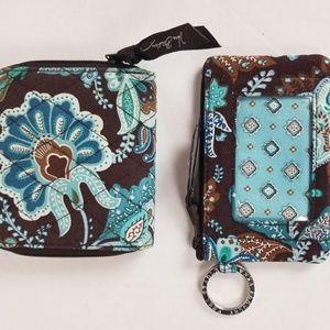 Vera Bradley wallet and ID case bundle Java Blue